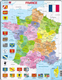 Map of France with Flags - Frame/Board Jigsaw Puzzle 29cm x 37cm (LRS  A5-FR)